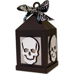 skull hanging tea light lantern