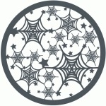 spiderweb circle halloween background