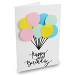 happy birthday ballon card