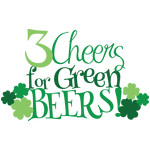 3 cheers for green beers