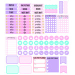 social media weekly planner stickers