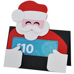 santa gift card holder or placecard