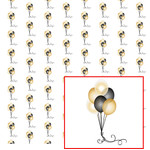 black & gold balloon pattern