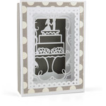 shadow box card wedding