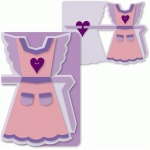 a6 apron mother's day apron card