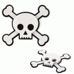 halloween skull & crossbones layered embellishment