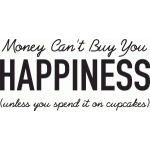 money can't buy happiness: cupcakes