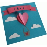 heart hot air balloon card