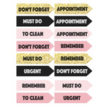 pink & gold planning labels