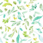 cute painted leaves background pattern