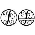 fancy monogram circle nameplate x
