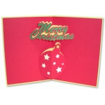 christmas ornament pop-up card