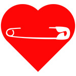 heart safety pin
