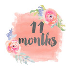 11 months onesie sticker