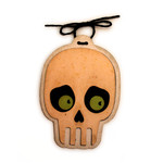 halloween skeleton head ornament