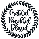 grateful thankful blessed leafy wreath
