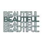 'beautiful' outline word