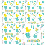 baby pattern in blue