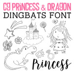 cg princess and dragons dingbats