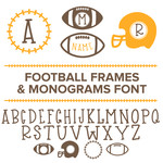 football frames and monograms font