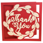 leaf wreath thank you card