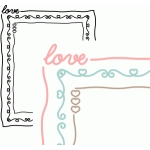 love doodle border rectangle