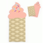 soft serve ice cream cone gift card envelope