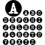 typewriter alphabets - capitals