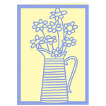 jug of buttercups card