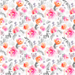 pink watercolor flower pattern