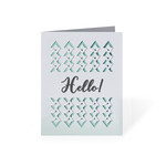 'hello' fold and tuck card