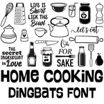 home cooking dingbats font