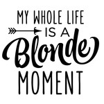 my whole life is a blonde moment phrase