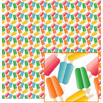 colorful ice pops pattern