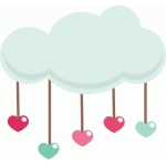 raindrop heart cloud