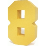 3d square number block 8
