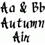 autumn air font