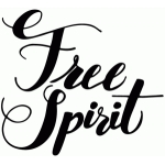 free spirit lettering quote