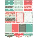 mint berry christmas planner stickers