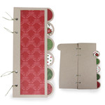 christmas circle tabbed album