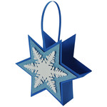 holiday snowflake basket