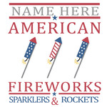 custom fireworks sign