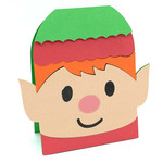 christmas elf face card