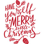 have yourself a merry little christmas handlettering