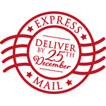 christmas holiday express mail stamp