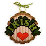 irish heart disc ornament tree