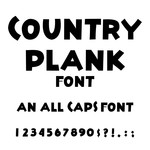 country plank font