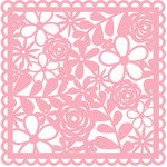 floral square background