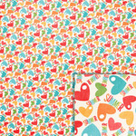 summer hearts background paper