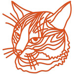 tabby cat intricate papercut